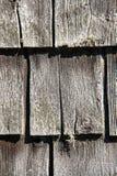 Rustic wooden shingles Stock Photo