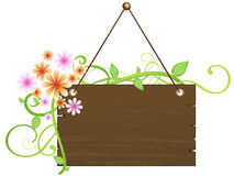 Rustic Wooden Sign Royalty Free Stock Image