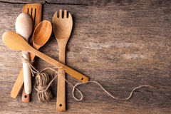 Rustic wooden spoons Stock Image