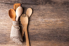 Rustic wooden spoons Royalty Free Stock Photo