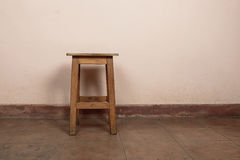 Rustic wooden stool Stock Photo