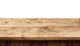 Rustic wooden table Royalty Free Stock Images