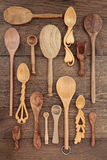 Rustic Wooden Utensils Stock Image