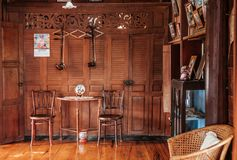 Rustic wooden vintage country house interior concept decoration stock photos