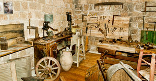 In the rustic workshop,  19th century Stock Images