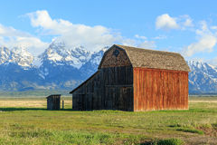 Rustic Wyoming barn. Stock Photography