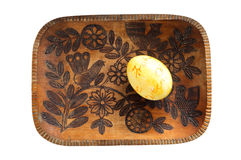 Rustical Easter Plate Royalty Free Stock Photo