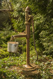 Rustical pump water. In the forrest royalty free stock photos