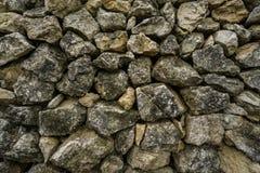 Rustical stenvägg på bygden Royaltyfri Foto
