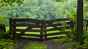 Rustical wooden gate Stock Photo