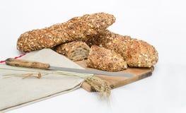 Rustiek brood met eik Royalty-vrije Stock Foto's
