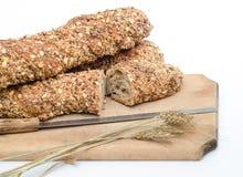 Rustiek brood met tarwe Stock Afbeeldingen