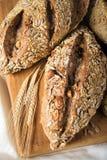 Rustiek brood met zaden en noten royalty-vrije stock foto