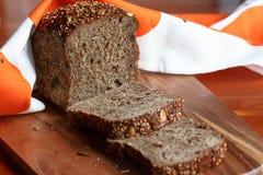 Rustiek brood van brood met zonnebloemzaden Royalty-vrije Stock Foto