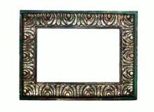 Rustiek Groen en Gouden Frame Royalty-vrije Stock Afbeelding