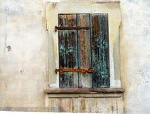 Rustiek houten blind royalty-vrije stock afbeeldingen