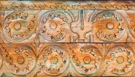 Rustiek houten ornament Stock Afbeeldingen