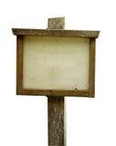 Rustiek houten uithangbord Royalty-vrije Stock Foto's