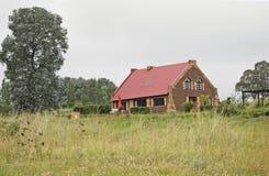 Rustiek landelijk plattelandshuisje Royalty-vrije Stock Afbeeldingen
