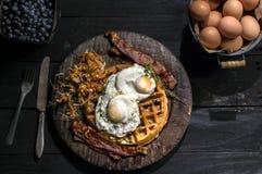 Rustiek ontbijt Stock Foto's