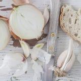 Rustiek ontbijt - close-up Royalty-vrije Stock Afbeelding