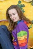 Rustiek portret van een jonge vrouw Stock Afbeeldingen