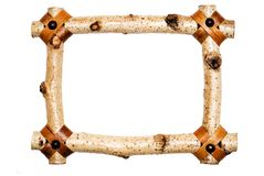 Rustiek Wit Houten Frame Royalty-vrije Stock Foto's
