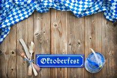 Rustieke achtergrond voor Oktoberfest Royalty-vrije Stock Fotografie
