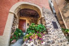 Rustieke boog in Sardinige royalty-vrije stock afbeelding