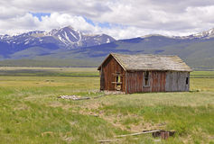 Rustieke cabine in de bergen, Colorado Royalty-vrije Stock Foto's