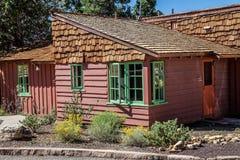 Rustieke Cabine van Helder Angel Lodge stock fotografie