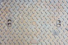 Rustieke de dekkingstextuur van het grungemangat Stock Fotografie