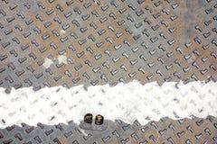 Rustieke de dekkingstextuur van het grungemangat Stock Foto's