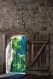 Rustieke deur in de muur Royalty-vrije Stock Afbeelding