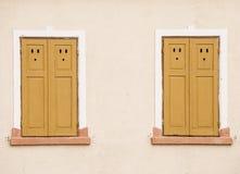 Rustieke houten vensters Royalty-vrije Stock Foto's