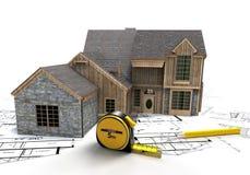 Rustieke huisbouw Stock Foto