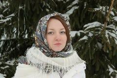 Rustieke jonge vrouw Royalty-vrije Stock Foto's