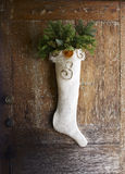 Rustieke Kerstmiskous voor voordeur Royalty-vrije Stock Foto's
