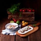 Rustieke krabsalade Stock Afbeeldingen