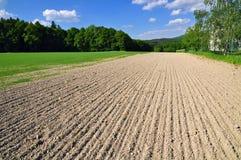 Rustieke landelijke landgrond Stock Afbeelding
