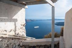 Rustieke mening van Santorini, Griekenland Stock Fotografie