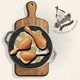Rustieke menuillustratie Royalty-vrije Stock Foto's