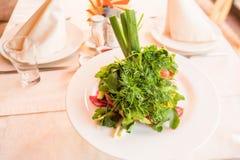 Rustieke salade in kom Stock Foto