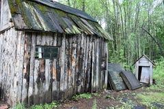 Rustieke schuur in hout Royalty-vrije Stock Foto