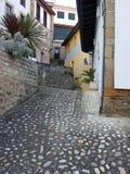 rustieke straat os Asturias Royalty-vrije Stock Afbeeldingen