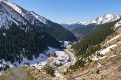Rustieke toevlucht in de bergen royalty-vrije stock fotografie