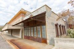 Rustieke victorian stijlarchitectuur in Miami Arizona Stock Foto