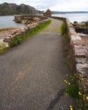 Rustieke weg in Schotland Stock Afbeeldingen
