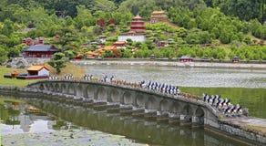 Rustig en peacefull zen tuin Royalty-vrije Stock Foto