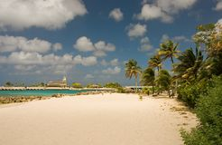 Rustig strand Royalty-vrije Stock Fotografie